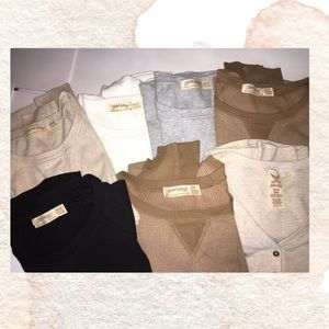 🔴 CLEARANCE🔴 BUNDLE OF 6 HENLEY LONG SLEEVE TOPS